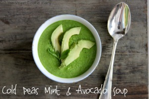 Cold Peas, Mint and Avocado Soup.