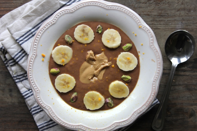 Cashew and Almond Butter Chocolate Smoothie Bowls – 2 recipes