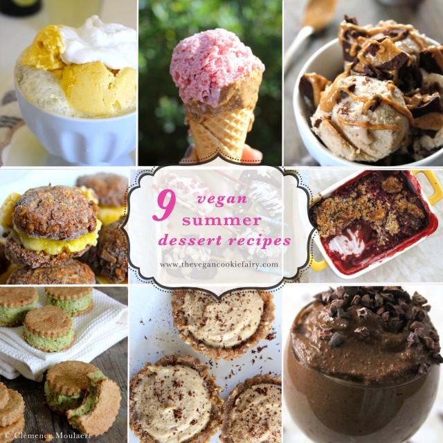 My Favourite Vegan Summer Desserts - Recipe Round-Up!