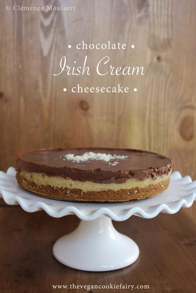 Irish Cream Chocolate Cheesecake title