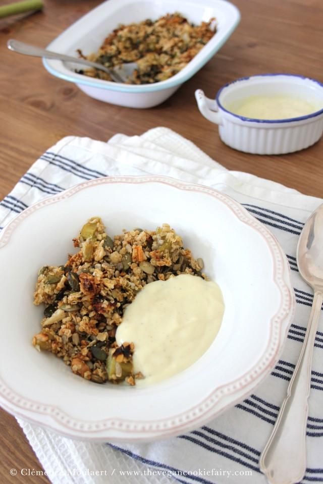 vanilla rhubarb crumble 1