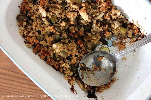 vanilla rhubarb crumble granola 2