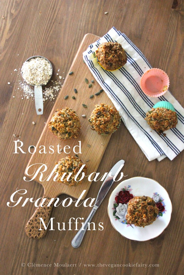 Roasted Rhubarb Muffins Title 2