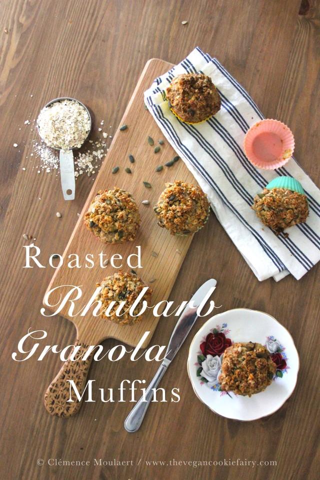 Roasted Rhubarb Muffins Title 2