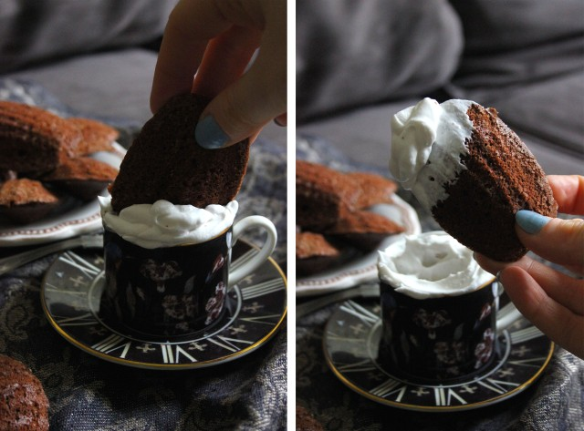 chocolate madeleines collage1