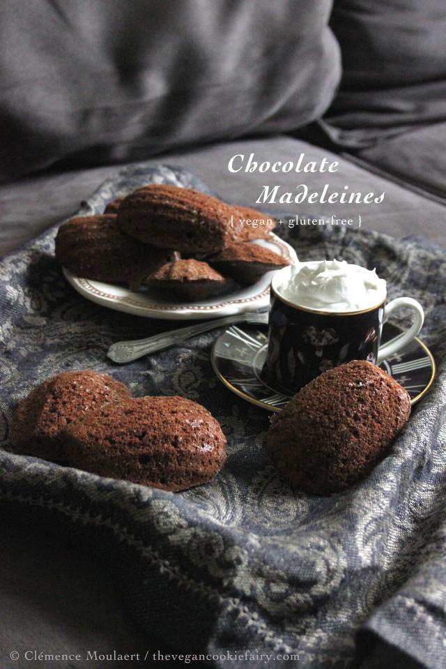 Gluten-Free + Vegan Chocolate Madeleines 'Madeleines au chocolat'