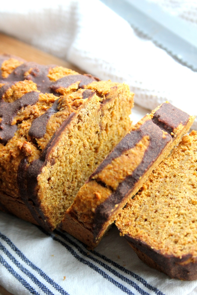 Vegan breakfast pumpkin chocolate loaf