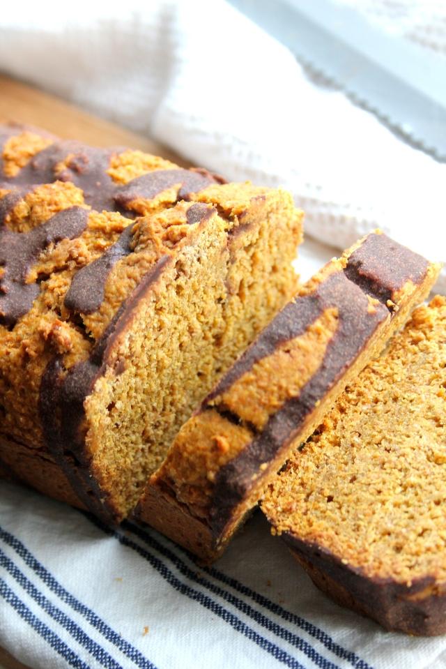 Vegan breakfast pumpkin chocolate loaf