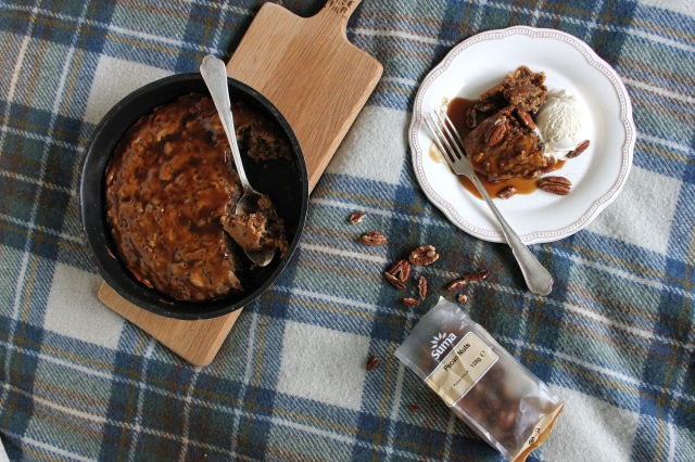 one-pot vegan pecan sticky toffee pudding