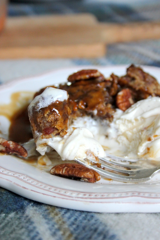 one-pot vegan pecan sticky toffee pudding 6