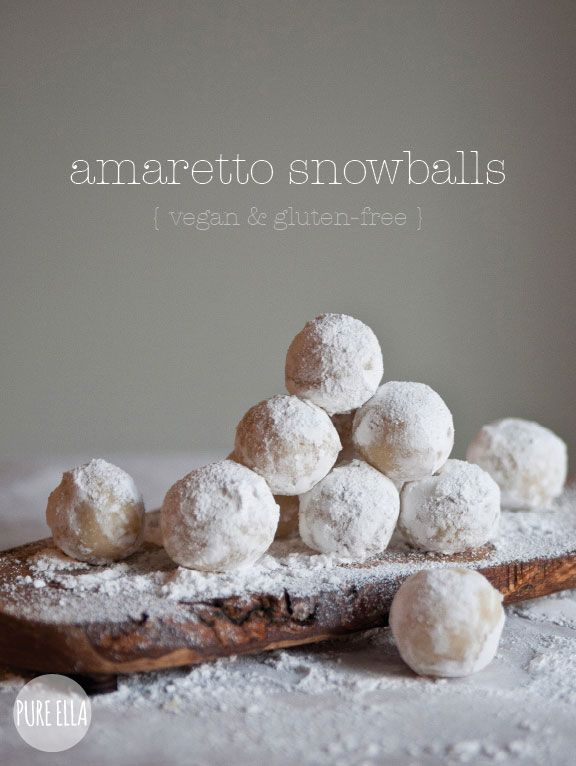 amaretto snowballs