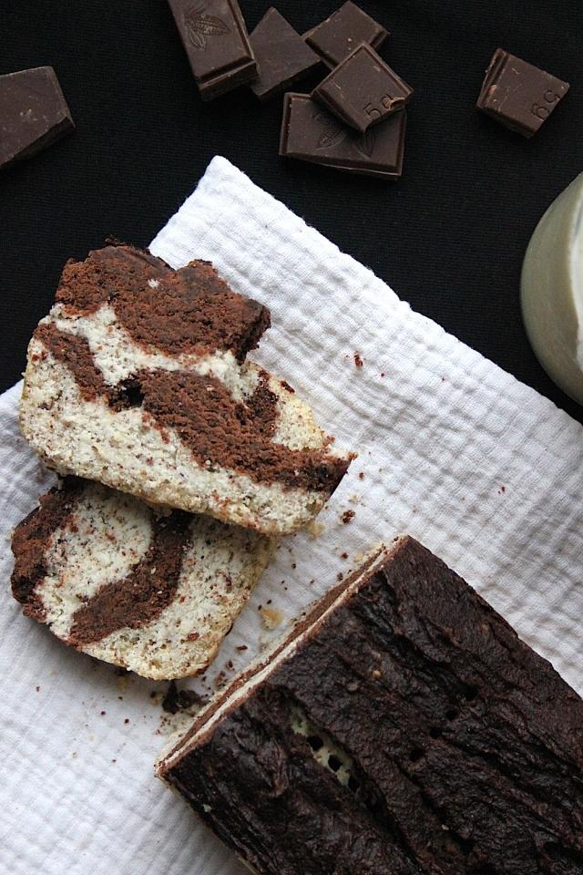 Chocolate Chai Marbled Cake GF