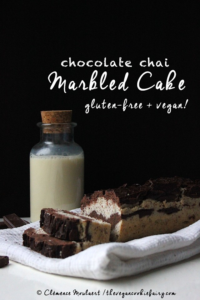 Chocolate Chai Marbled Cake GF