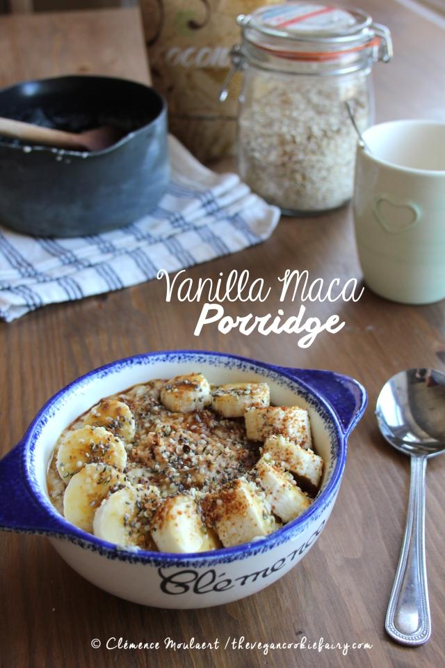 Vanilla Maca Oat Porridge Hormone Balancing #Vegan Breakfast 2