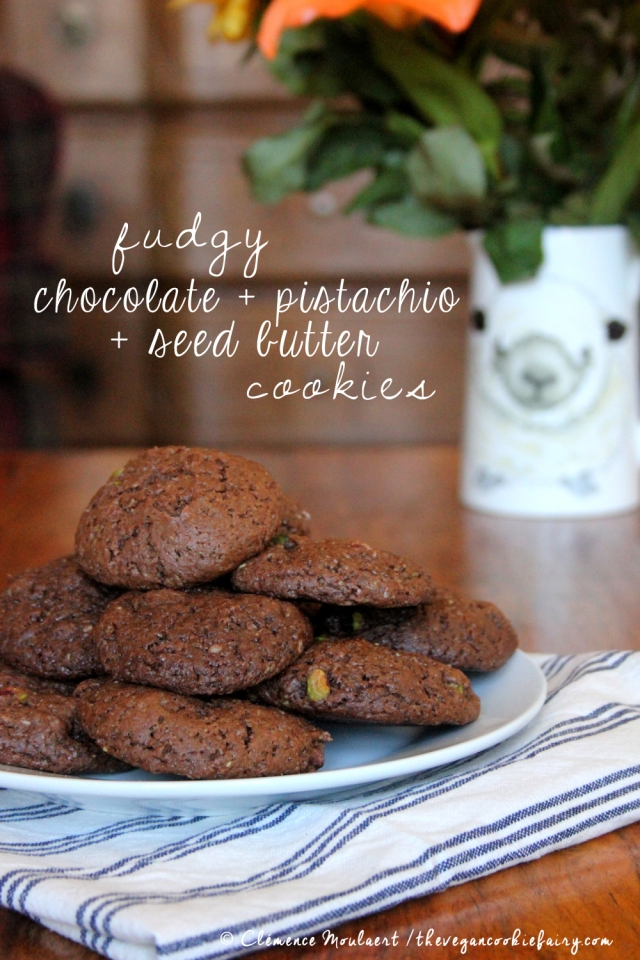 Fudgy Chocolate Seed Butter Cookies