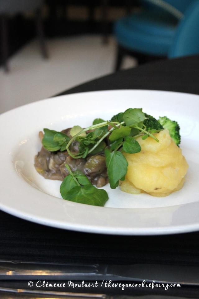 Vegan Mushroom Pie @ BSB #veganinscotland