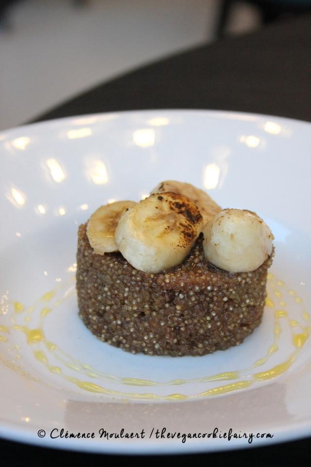 Vegan Quinoa Banana Pudding @ BSB #veganinscotland