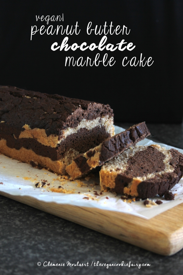 #Vegan Peanut Butter Chocolate Marble Cake