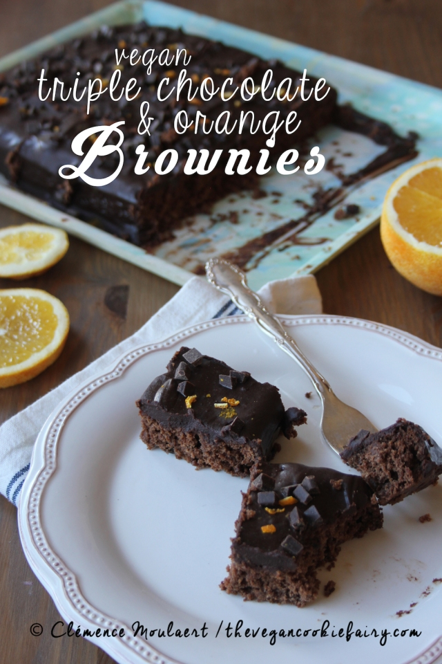 Vegan Triple Chocolate Orange Brownies