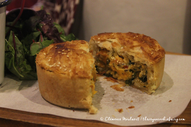 Veggie sweet potato spinach goats cheese pie - Treacle Edinburgh