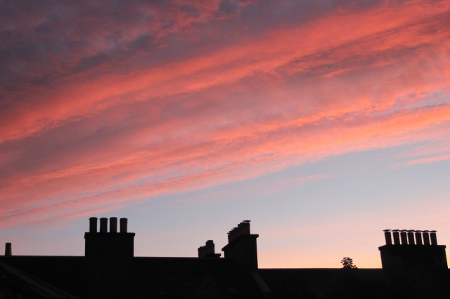 Edinburgh Sunset Skyline