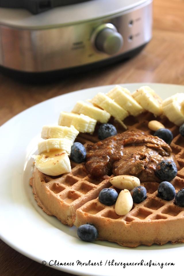 #Vegan Crispy Waffles w No Mess Waffle Maker