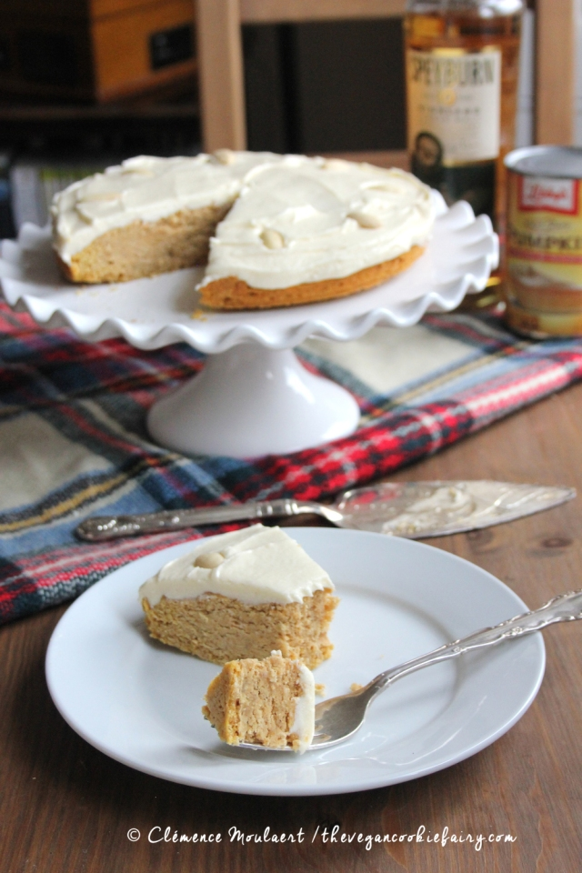 Vegan Spiced Pumpkin Cake with Whisky Buttercream