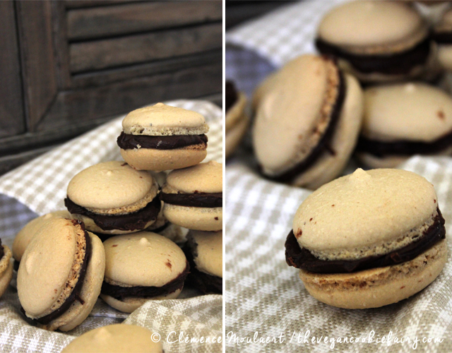 Vegan Coffee Macarons -- The Vegan Cookie Fairy