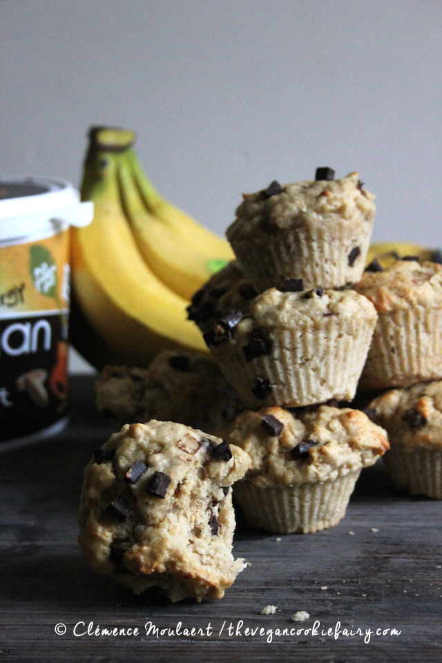 #Vegan #Protein Peanut Butter Choc Chips #Muffins | The Vegan Cookie Fairy
