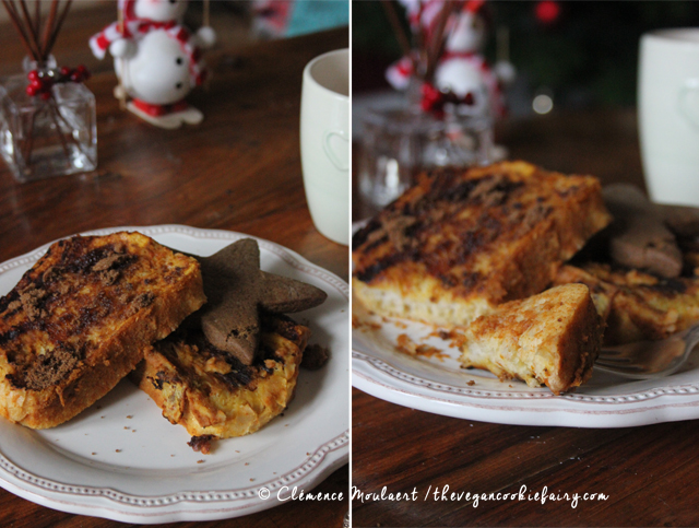 Pumpkin Spiced French Toast - The Vegan Cookie Fairy #vegan #breakfast