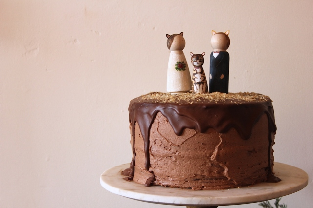 Vegan Hazelnut Chocolate Wedding Layer Cake